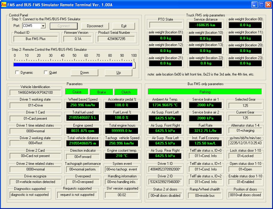 Au Truck / Bus Fleet Management System (FMS) Simulators