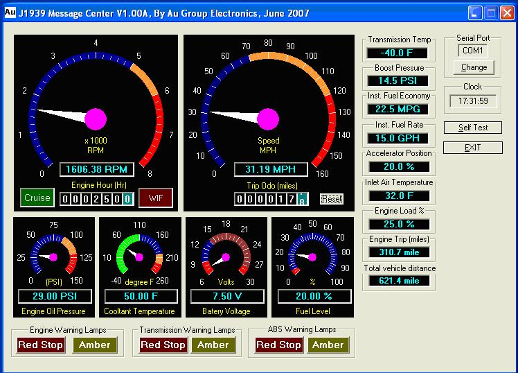 Sae J1939 Message Center System