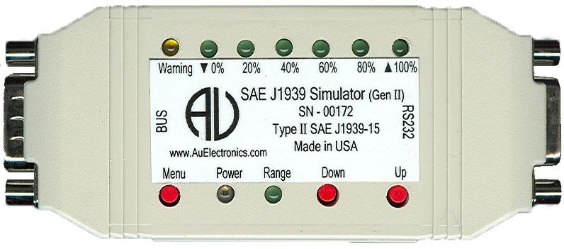 Au Group Electronics SAE J1939 Simulators (Gen II) Ver  1 00A and