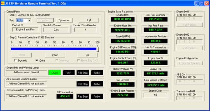 User Manual For Au SAE J1939 Simulator Gen II