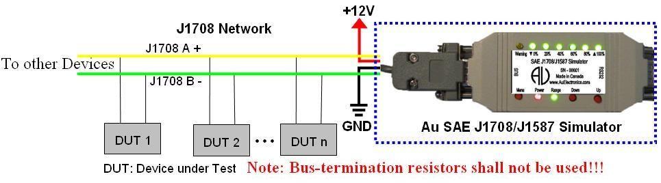 SAE J1708/J1587 Simulators (Gen II) Ver. 1.00A Au Group Electronics j1708 pinout Au Group Electronics