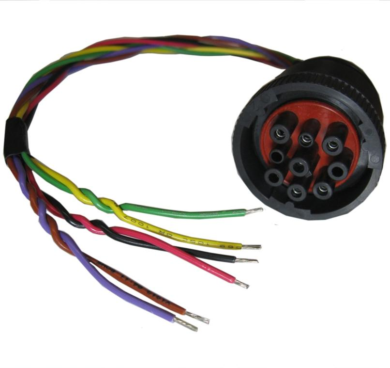 CBL-CAN-03-NDB: 6-wire color coded cable with 9-way Round Threaded ...